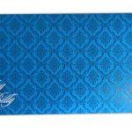 Envelope front of Blue Magnet Dazzling Wedding Invitation Card