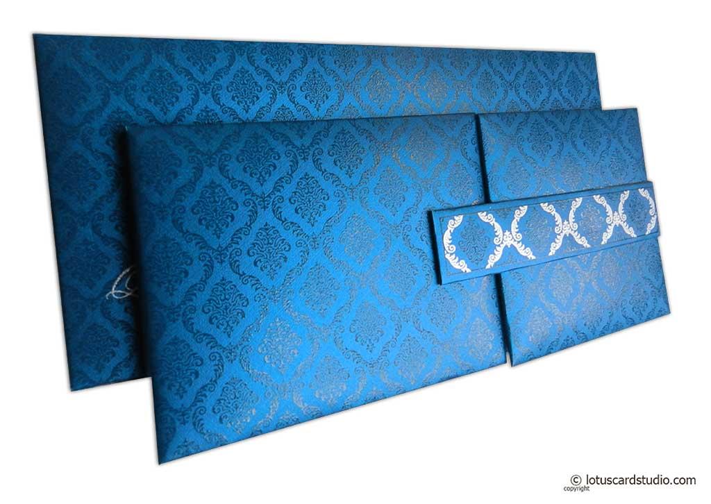 Blue Magnet Dazzling Wedding Invitation Card