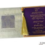 Insert1 of Dazzling Wedding Invitation Card with Beads Dori