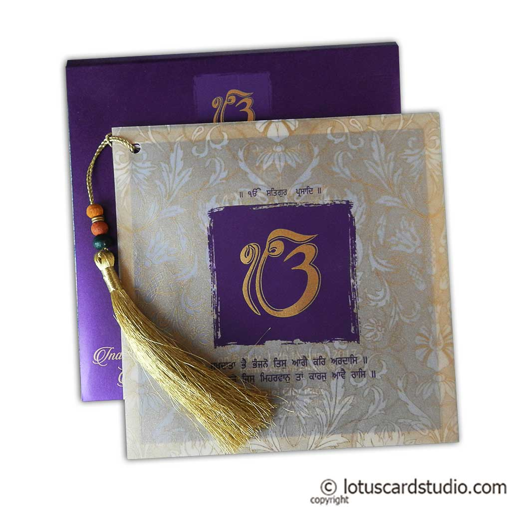 Dazzling Wedding Invitation Card with Beads Dori