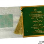 Insert1 of Glamorous Green Marriage Card with Beads Dori