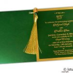 Insert2 of Glamorous Green Marriage Card with Beads Dori
