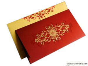 Golden Floral Wedding Invitation