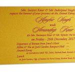 Golden insert of Golden Magnet Dazzling Wedding Invitation Card with Red Florals