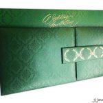 Green Magnet Dazzling Wedding Invitation Card