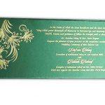 Inside of Green Magnet Dazzling Wedding Invitation Card