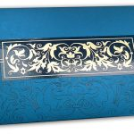 Front view of Exclusive Sized Glossed Shagun Money Envelope in Imperial Blue
