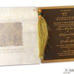 Insert1 of Lavish Golden Brown Wedding Invitation with Beads Dori
