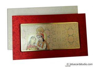 Radha Krishna Boxed Style Wedding Invitation