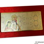 Card front of Radha Krishna Boxed Style Wedding Invitation