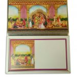 Card inside of Boxed Style Wedding Card with Rajasthani Royal Theme
