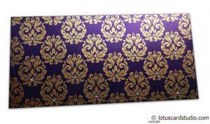 Designer Golden Floral Envelope in Super Indigo
