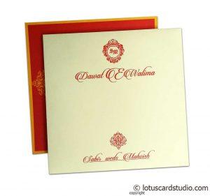 Elegant Ivory Wedding Invitation Card