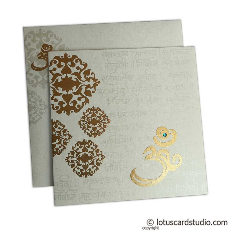 Floral Wedding Card Mantras Rich