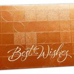 Front view of Money Envelope in Orangish with Glossy Finish