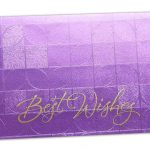 Front view of Money Envelope in Purple with Glossy Finish