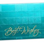Front view of Money Envelope in Teal with Glossy Finish