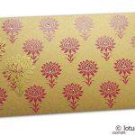 Lotus Themed Shagun Money Envelope in Pure Gold