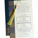 Insert of Magnificent Majestic Blue Wedding Card with Dori