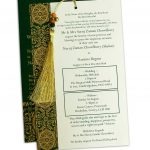 Insert of Magnificent Green Wedding Invitation Card with Dori