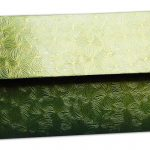 Back view of Green Petals Design Money Envelope