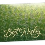 Green Petals Design Money Envelope