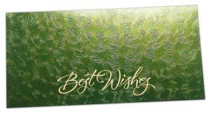 Green Petals Design Money Envelope