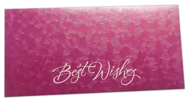 Pink Petals Design Money Envelope