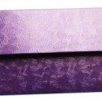 Back view of Purple Petals Design Money Envelope