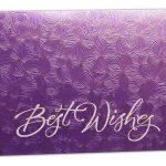 Purple Petals Design Money Envelope