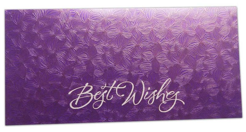 Purple Petals Design Money Envelope