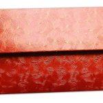 Back view of Red Petals Design Money Envelope