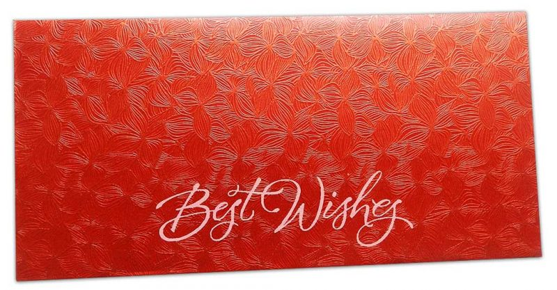 Red Petals Design Money Envelope