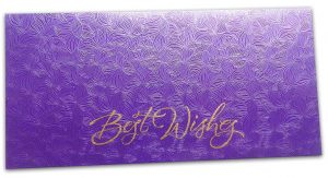 Blue Petals Design Money Envelope