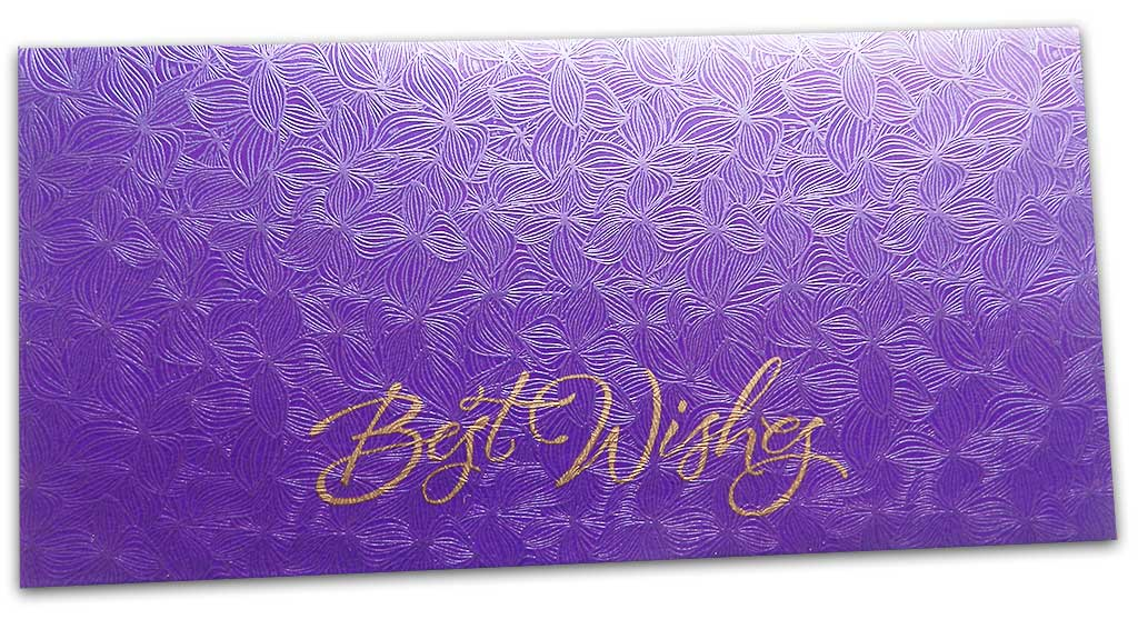 Blue Petals Design Money Envelope