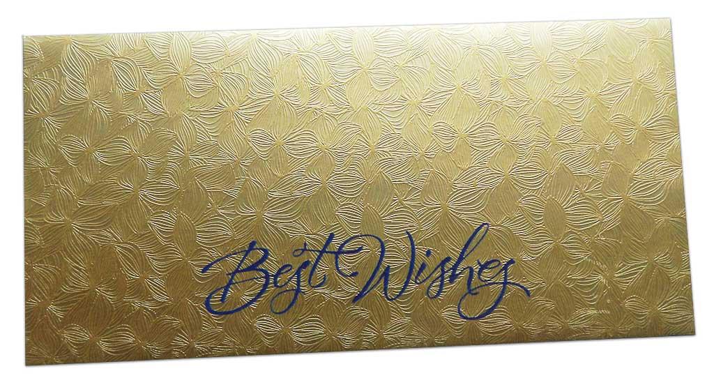 Golden Petals Design Money Envelope