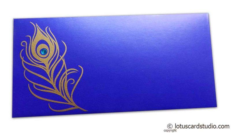 Mor Pankh Shagun Envelope in Imperial Blue