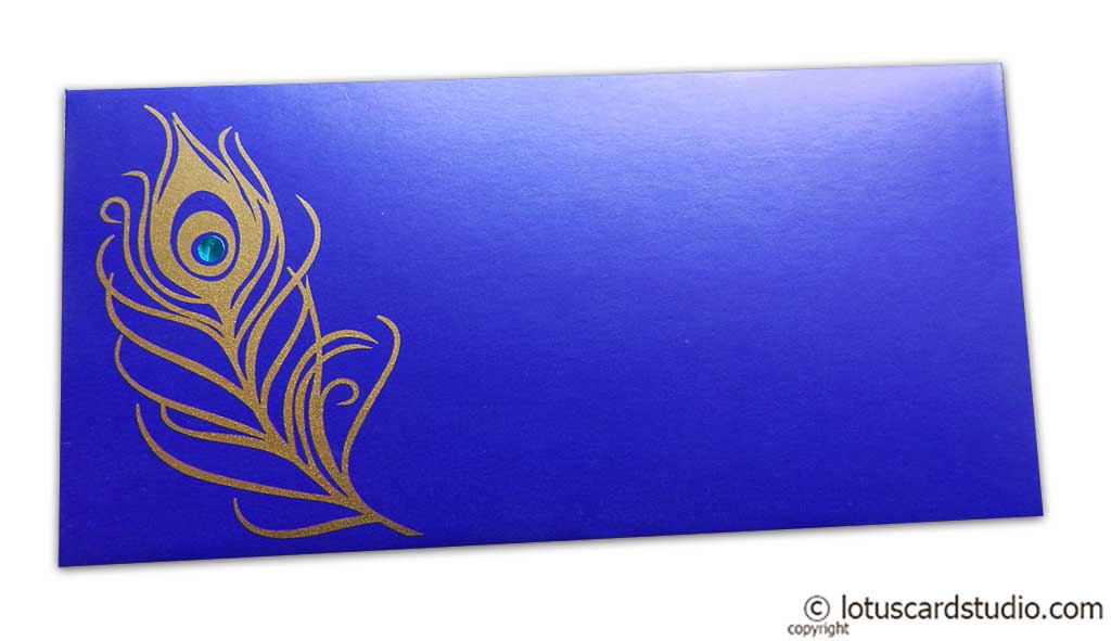 Mor Pankh Shagun Envelope in Imperial Blue