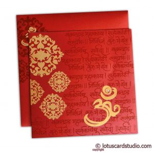 Stunning Wedding Card in Royal Red and Golden
