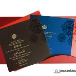 Card inside - Stunning Wedding Card in Royal Red and Golden