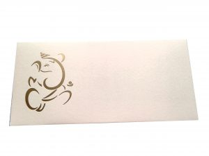 Signature Money Envelope with Hot Foil Stamped Ganesh