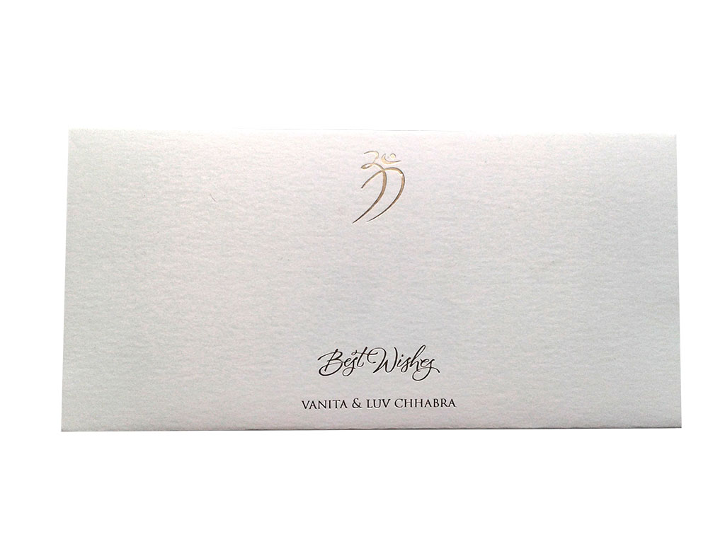 Signature Money Envelope with Hot Foil Stamped Om