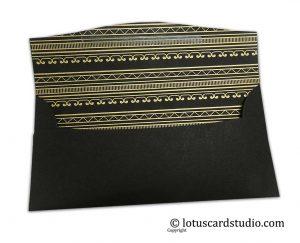 Inside design of Classic Black Shagun Gift Envelope