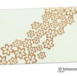 Golden Floral Shagun Envelope in Ivory