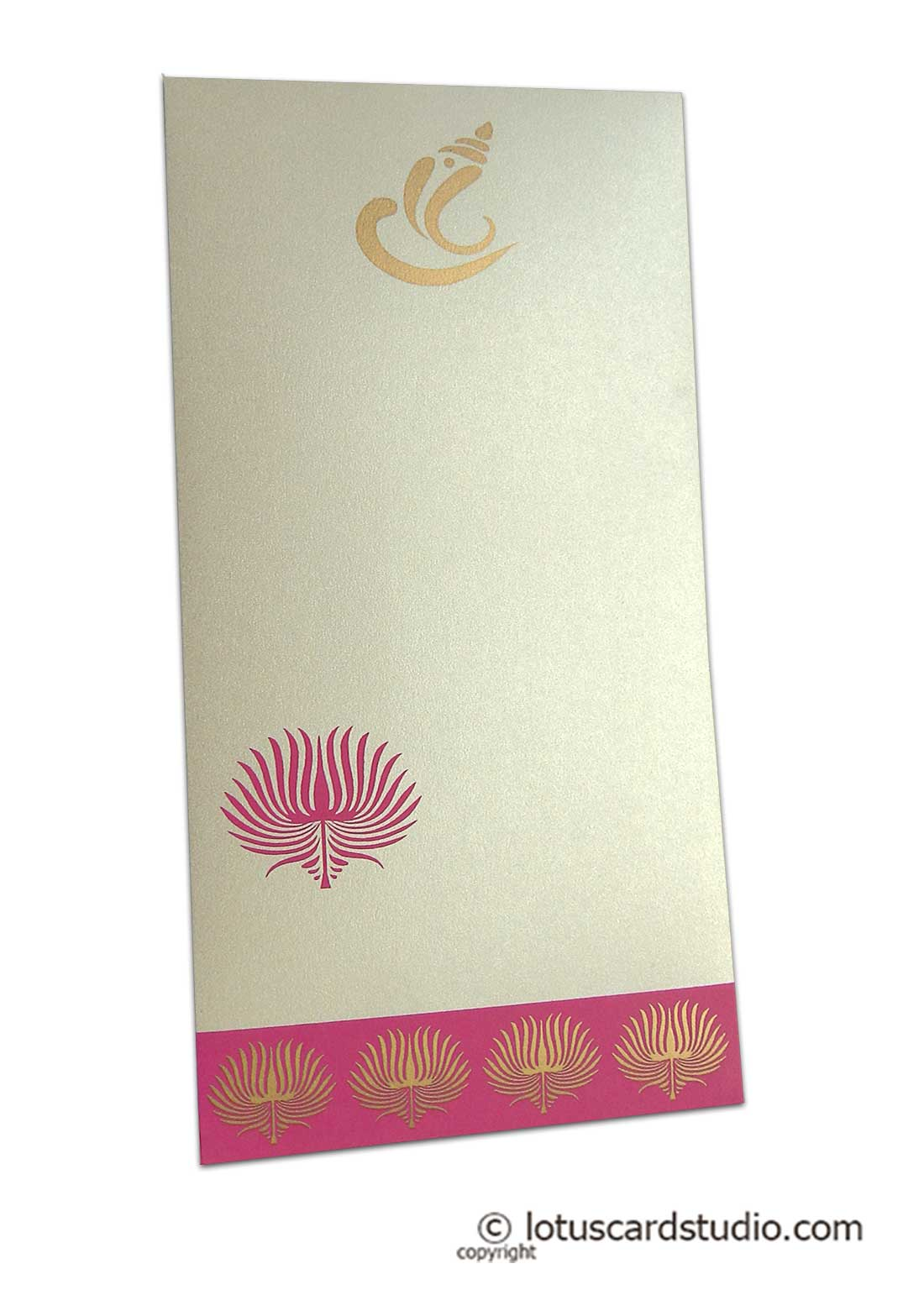 Lotus Theme Money Envelope in Pearl Ivory