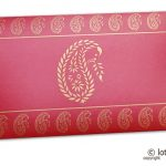 Traditional Golden Paisley Print on Classic Red Shagun Envelope