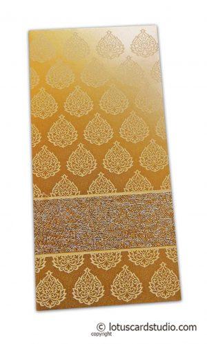 Golden Fibro Rich Shagun Envelope in Pure Gold