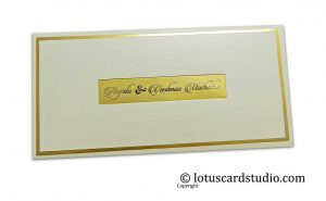 Hot Foil Stamped Gift Envelope with Golden Metallic Names
