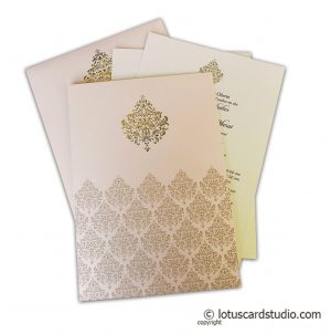 Hot Foil Embossed Design Wedding Invitation Card