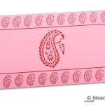 Traditional Red Paisley Print on Light Pink Shagun Envelope